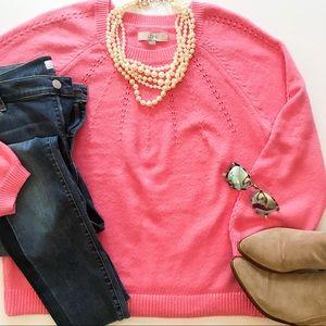 LOFT Pointelle Sweater